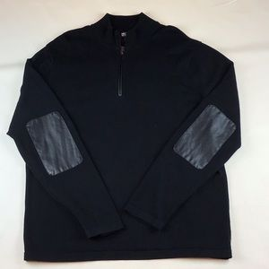 Men's 3/4 Zip Black Sweater